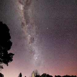The Milky Way and Stupa_1