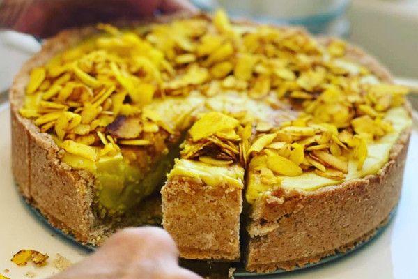 vegan coconut turmeric tart