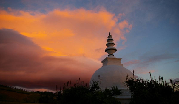 stupa in the clouds