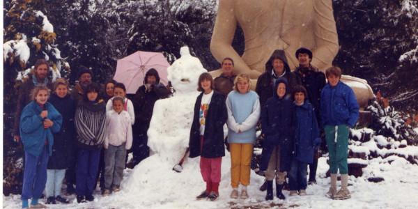 snow buddha