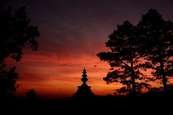 H Bland stupa at dawn
