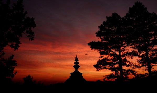 brc stupa at dawn h bland
