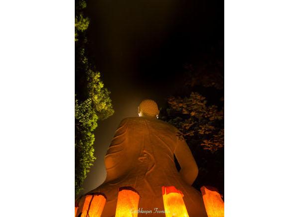 buddha lantern w