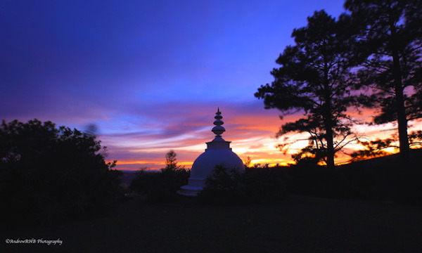 stupa sunrise andrew brown